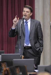 Representative Todd Richardson has filed a bill meant to clarify and strengthen Missouri laws on the retention or dissemination by the Revenue Department of personal information from license applicants.  (photo courtesy; Tim Bommel, Missouri House Communications)