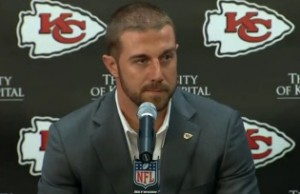 Alex Smith meets with the KC media on Wednesday