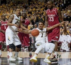 Laurence Bowers and Phil Pressey pick up postseason honors from the SEC (photo, Mizzou Athletics)