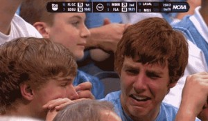 This crying UNC fan has become an internet sensation.