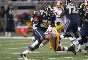 St. Louis Rams Steven Jackson in a game on September 16, 2012.  UPI/Bill Greenblatt