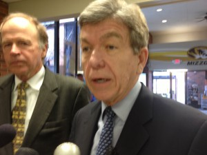 Senator Roy Blunt (R) talks with the press about Monsanto.