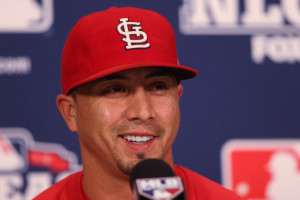 St. Louis Cardinals pitcher Kyle Lohse speaks to reporters on Media Day at  Busch Stadium in St. Louis on October 16, 2012. UPI/Bill Greenblatt