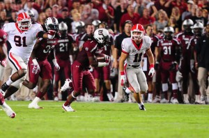 Ace Sanders returns a punt against Georgia in a game last season.  Sanders could fill that role with St. Louis.  