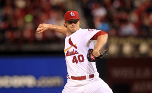 St. Louis Cardinals starting pitcher Shelby Miller delivers a pitch to the Milwaukee Brewers in the third inning at Busch Stadium in St. Louis on April 12, 2013.    UPI/Bill Greenblatt