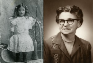 Irma Craig in 1901 (left) and in 1963 (photos courtesy, Shirley Andrews)