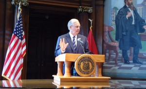 Governor Jay Nixon announces he will make cuts and layoffs in the Department of Motor Vehicles if the legislature carries through with a proposal to provide only eight months' worth of funding to that Department.