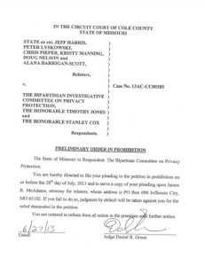 Judge Daniel Green's preliminary order on the subpoenas