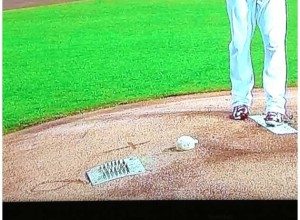 Does drawing a cross on the pitcher's mound at Busch Stadium, cross some kind of line?