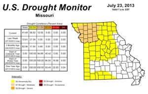 The U.S. Drought monitor update posted on Thursday.