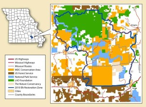 This map details the Conservation Department's Elk Restoration Zone.  (image courtesy; Missouri Department of Conservation)