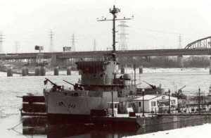 The Inaugural while on display as a museum ship on the Mississippi Riverfront in St. Louis.  (Photo courtesy, the National Historic Landmarks program)