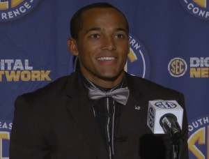 James Franklin answers questions during day one of the SEC Media Days