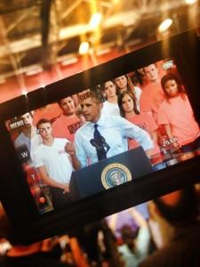 Reporter view Obama