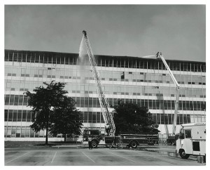 The National Personnel Records Center in St. Louis after the 1973 fire.