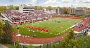 Artist's rendering of Walton Stadium on the campus of Central Missouri