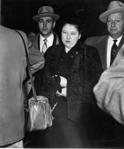Bonnie Brown heady is escorted to the Missouri State Penitentiary by federal marshals. (photo courtesy; Missouri State Historical Society)