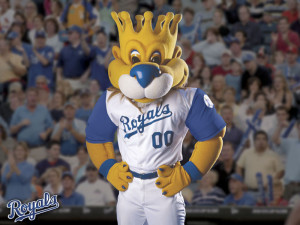 Kansas City Royals mascot Sluggerrr