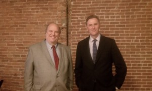 Producer and Director John Stephens, President of Pulse Productions, and National Churchill Museum Executive Director Doctor Rob Havers, presented the new Churchill documentary at the new Capitol City Cinema in Jefferson City.