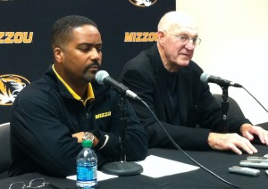 Frank Haith and Norm Stewart discuss this Friday's game at Hearnes Center