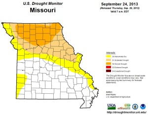 The latest U.S. Drought Monitor information, updated last Tuesday and posted last Thursday.