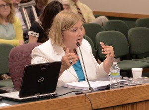 Chris Nicastro testifies in a House Committee Hearing (courtesy; Missouri House Communications)
