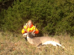 Victoria Nivens, age 9, shot an eight point buck in Osage County during the annual Youth Hunt.