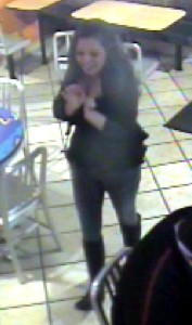 Cape Girardeau Police released this picture of a woman they hope someone can identify.  She is suspected of stealing a picture Saturday from a McDonald's on Broadway in Cape Girardeau.