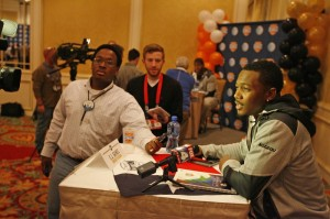 Senior E.J. Gaines and defensive teammates chat with the media on New Year's Day (Cotton Bowl photo)