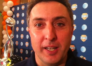 Tiger Network sideline reporter, Chris Gervino