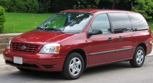 A red 2004 Ford Freestar, like this one, is what Farris and McDaniel are believed to be traveling in.