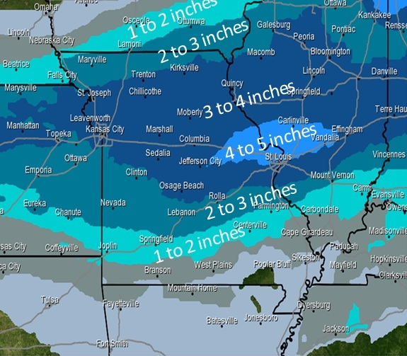 NWS: Multiple rounds of snow and cold temperatures possible through