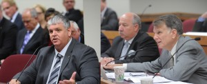 Representative Tony Dugger (R-Hartville) and Representative Stanley Cox (R-Sedalia) offer the voter photo ID bill and the proposed constitutional amendment that would allow it to become law, respectively.  (photos courtesy, Tim Bommel, Missouri House Communications)