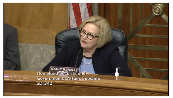 Sen. McCaskill is chair of the Subcommittee on Financial and Contracting Oversight. (Missourinet photo)