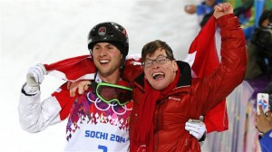 It's moments like this, that make the Olympics fun to watch (Canadian Alex Bilodeau (L) and his older brother Frederic celebrate a gold medal.