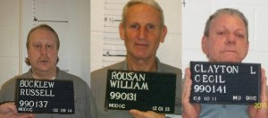 Russell Bucklew, William Rousan and Cecil Clayton (photos courtesy; Missouri Department of Corrections)