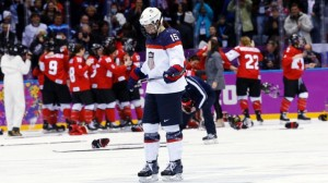 Anne Schleper of Team USA skates back to the bench after Canada scored the game winning goal in overtime.  (Photo/ABC News)