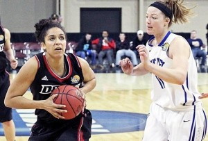 Sanayika Shields matched her career-high with 21 points and added a game-high 11 rebounds. (photo courtesy of Drury Athletics)