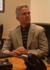 Mike Alden discusses Gary Pinkel's contract extension at Mizzou Arena on March 6, 2014