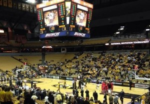 While the crowd was small, they were energized for Missouri's first round NIT game.