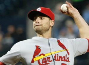 Tyler Lyons gave up two runs on six hits and four walks, while striking out seven. (photo/MLB)