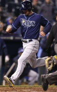 Former Royals prospect Wi l Myers scores the games only run (photo/MLB)