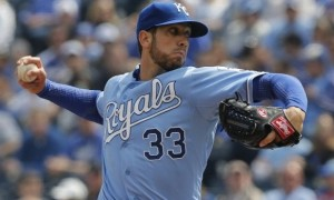 Royals touch luck starter James Shields is pitching well out of the gates. (MLB photo)