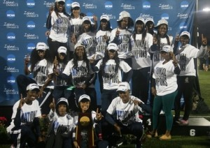 Lincoln University women's track and field national champions. (photo/lubluetigers.com)