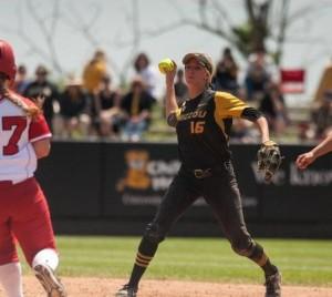 Missouri Tiger softball. (photo/Mizzou Athletics)