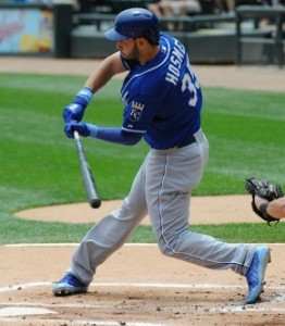 Eric Hosmer and the Royals bats are heating up heading into Detroit. (photo/MLB)