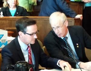 Senator Kurt Schaefer (left) and Representative Rick Stream.