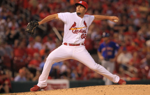 St. Louis Cardinals pitcher Nick Greenwood delivers a pitch to the New York Mets in the sixth inning at Busch Stadium in St. Louis on June 16, 2014.  UPI/Bill Greenblatt