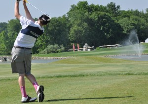 Thomas Cleek hits a shot during the golf competition at the Special Olympics, 2014 USA Games.  Cleek won a gold medal at the event (photo/Special Olympics Missouri)
