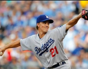 Zach Greinke returned to Kansas City where he got his start in the majors. (photo/MLB)